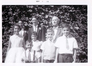 Back row: John Paltiel, Bob Paltiel, Charles Landes Middle row: Joan Landes, Patricia Patiel, Paul Landes, Joel Landes Front row: Randy Landes via Paul Landes
