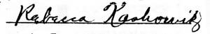 Kashowitz on Marriage Certificate #3