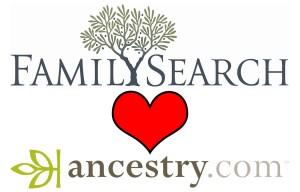 FamilySeach loves Ancestry.com
