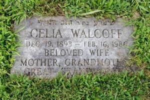 Celia Neckameyer Walcoff footstone