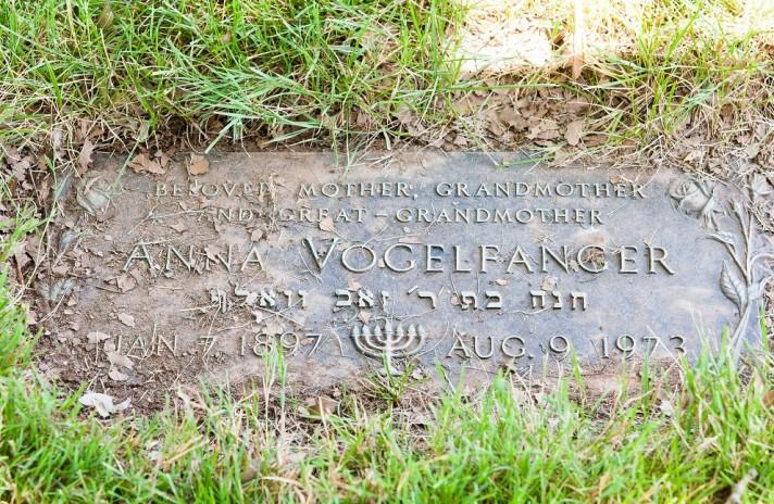 Anna Vogelfanger Grave