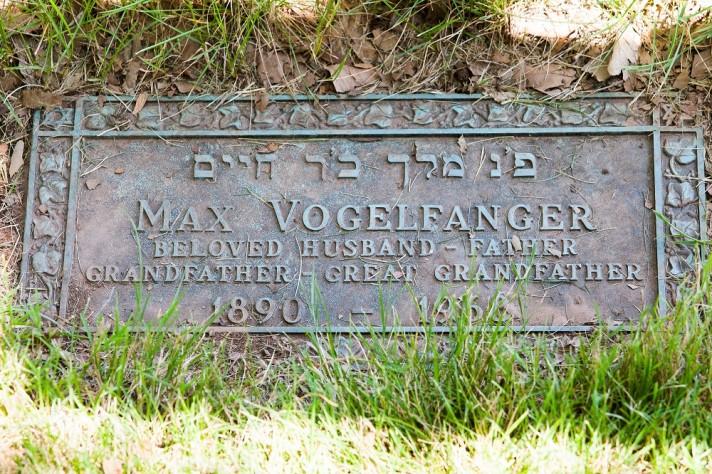 Max Vogelfanger Grave